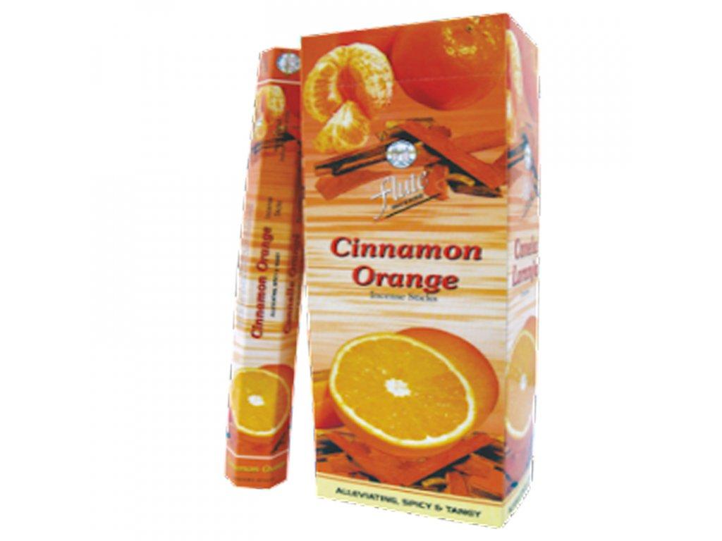Vonné tyčinky skořice a pomeranč, FLUTE 20ks