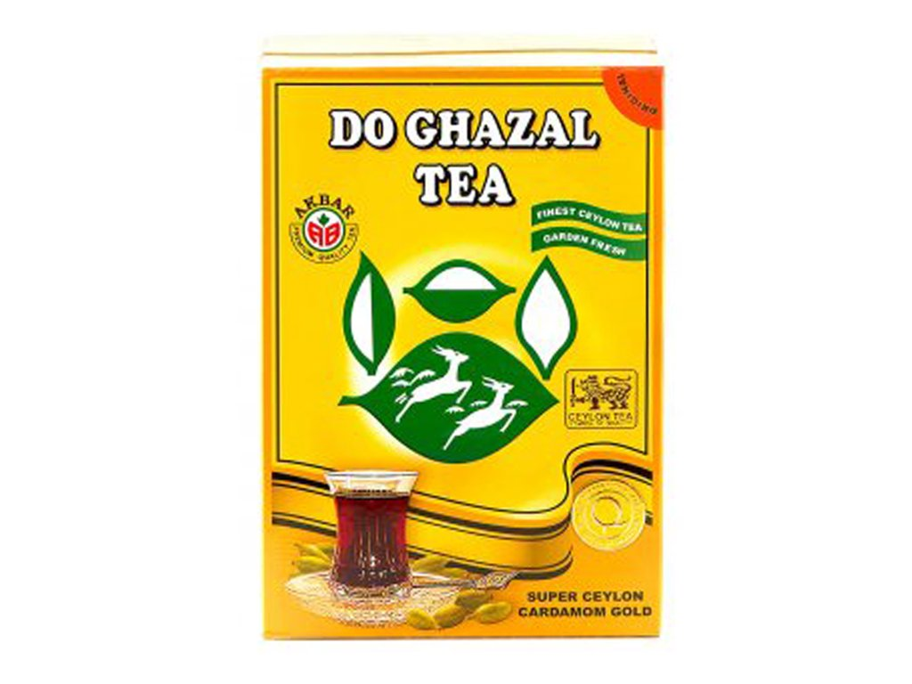 Ceylonský čaj s příchutí kardamomu (Pure Ceylon Tea with Natural Flavours of Cardamom), DO GHAZAL 500g