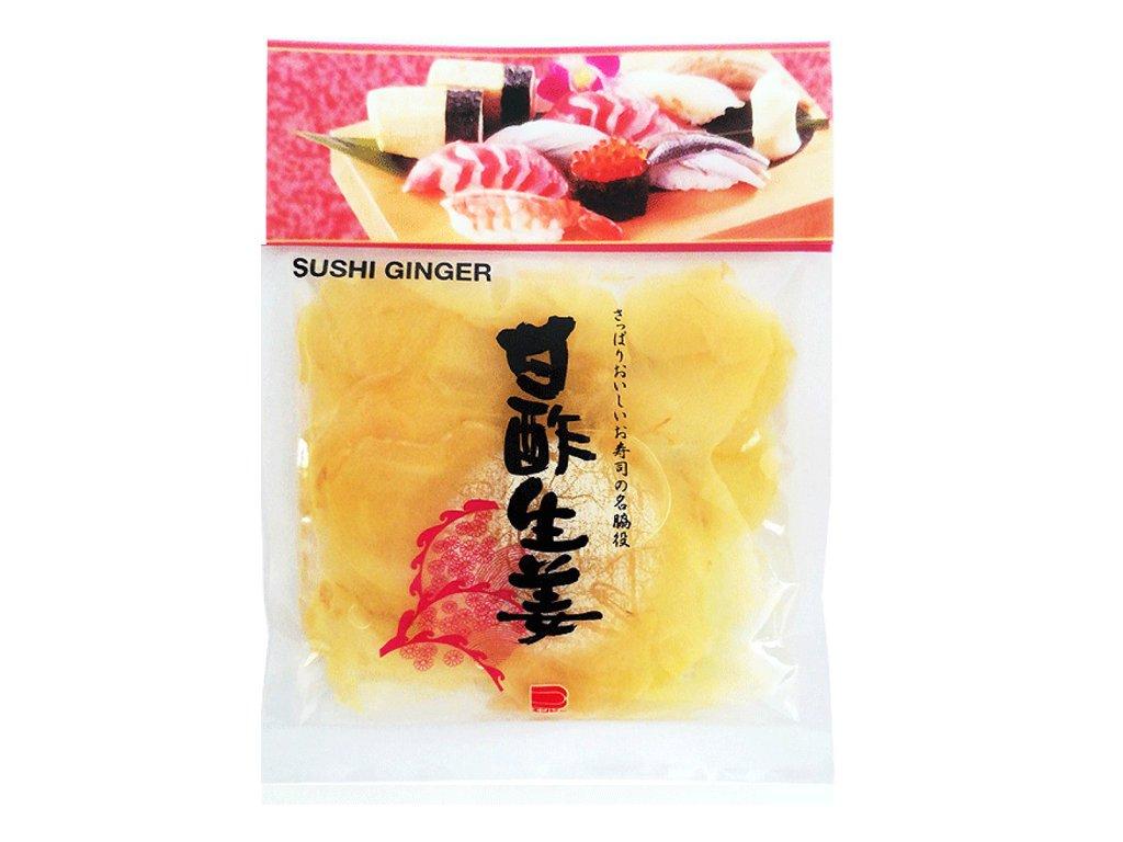 Nakládaný japonský bilý zázvor (Sushi Ginger), 110g