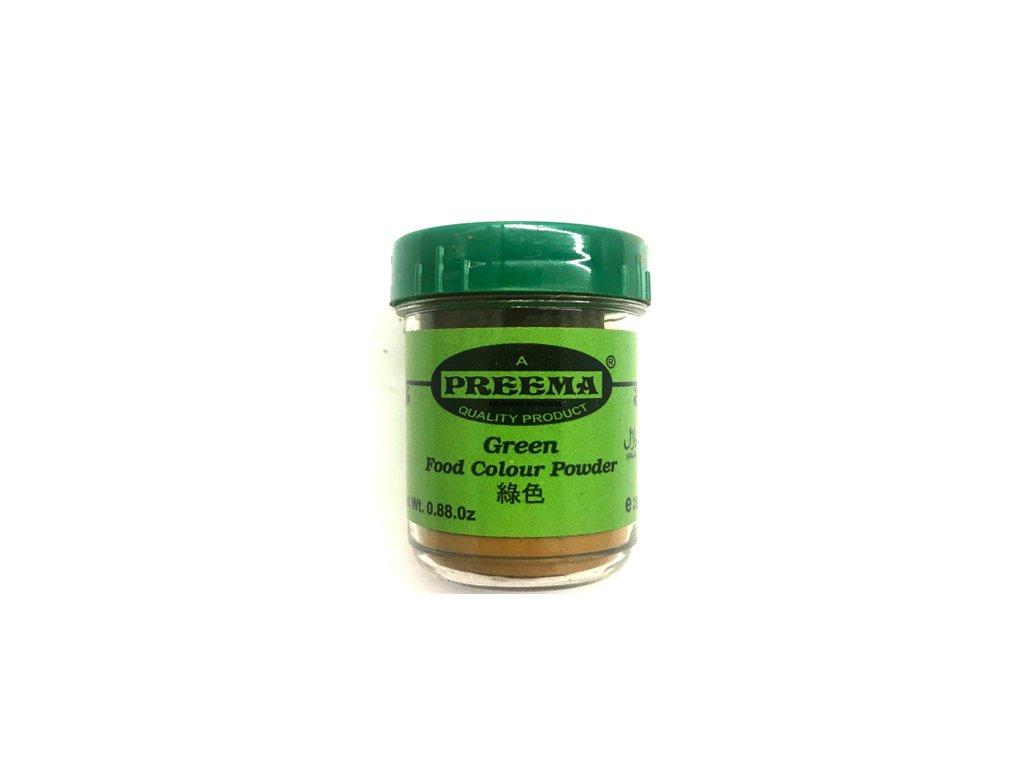 Potravinářská barva prášková zelená, PREEMA 25g