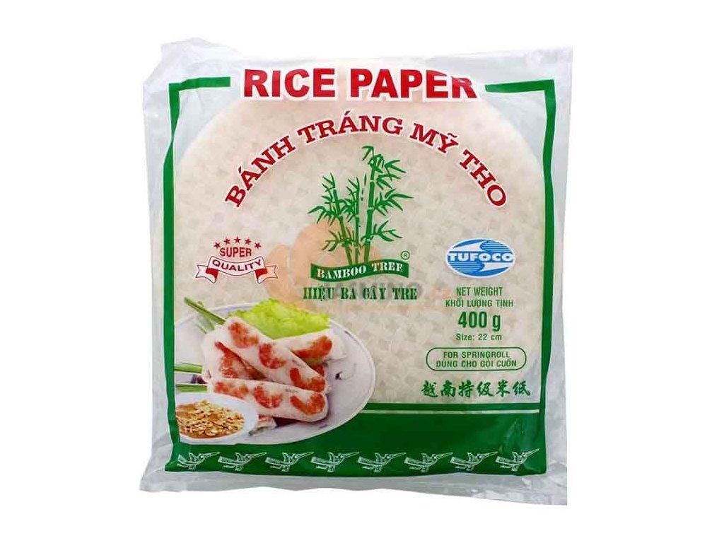 Rýžový papír na jarní závitky, TUFOCO 400g / 22cm