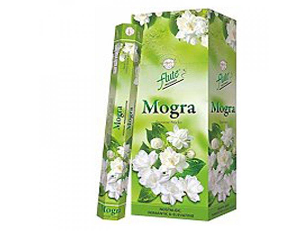 Vonné tyčinky Mogra - Sambac jasmín (Mogra-Sambac Jasmine Incense Sticks), 20pc
