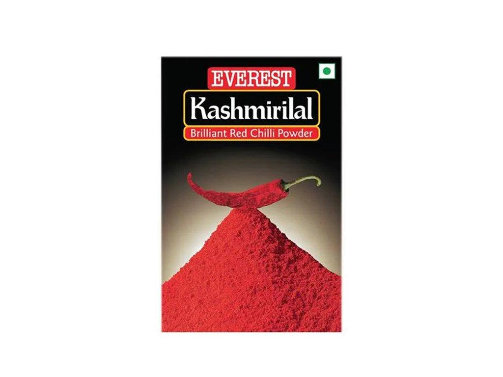 Kashmirilal – červený chiili mletý (Brilliant Red Chilli Powder), EVEREST 100g