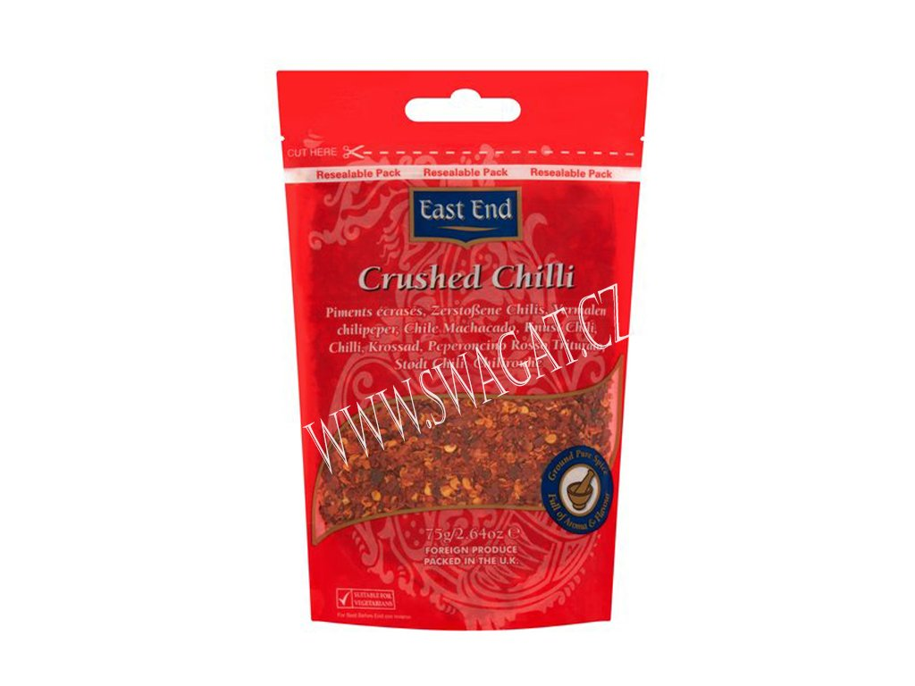 Drcené chilli (Crushed Chilli), EAST END 75g