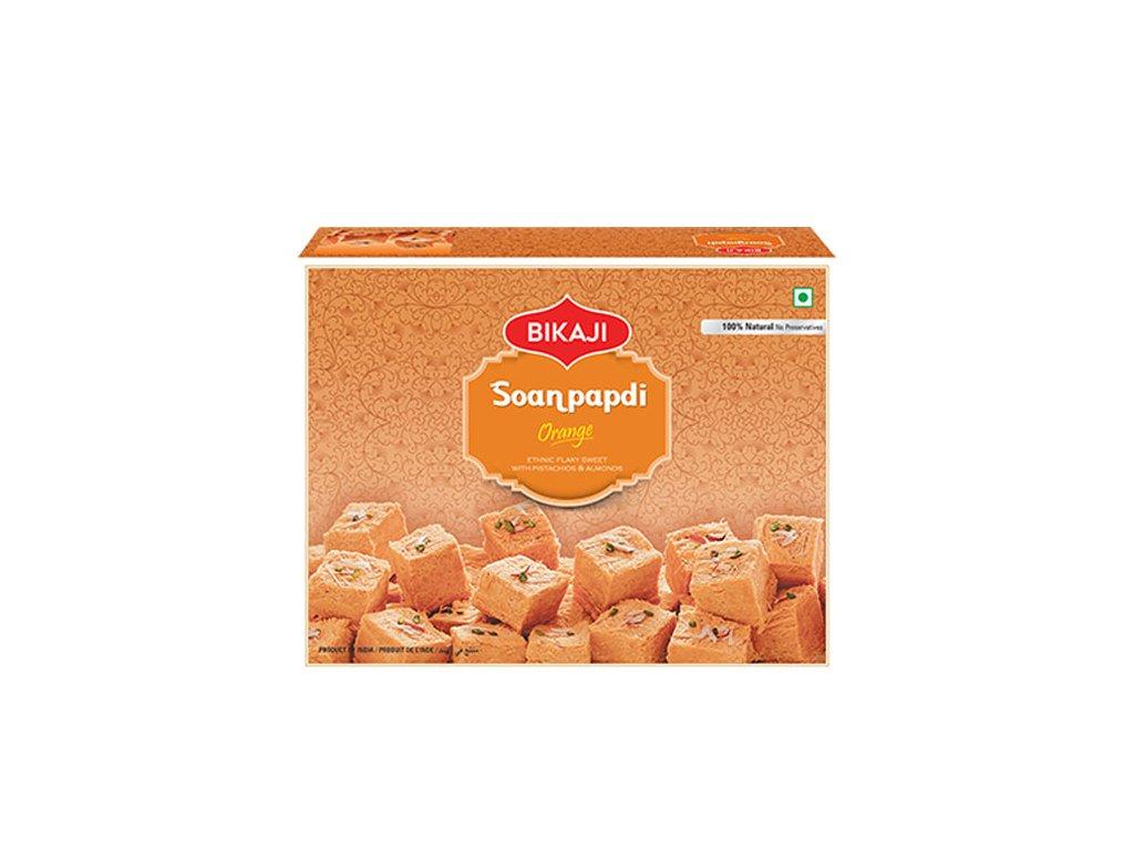 Indický dezert Orange Soan Papdi, BIKAJI