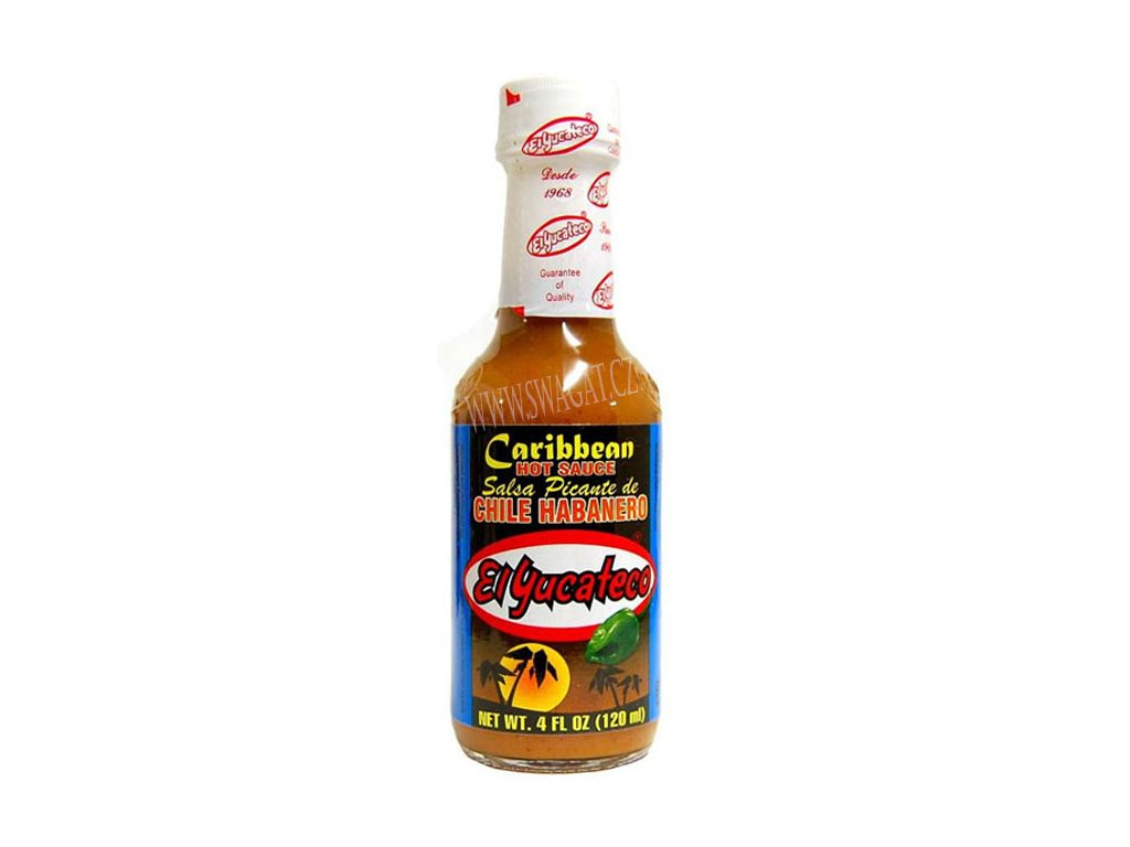 Hot Chile Habanero Salsa Caribbean – Extra pikantní salsa, El YUCATECO 120ml