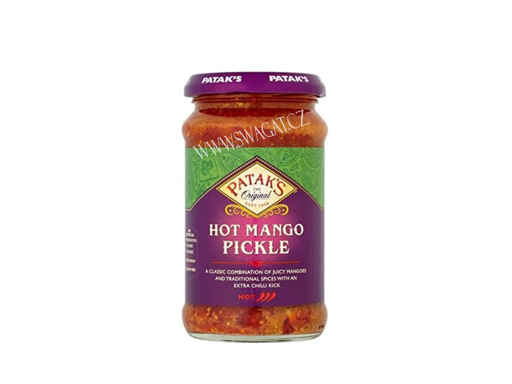 Nakládaný mango ostrý (Mango Pickle Hot), PATAK`S 283g