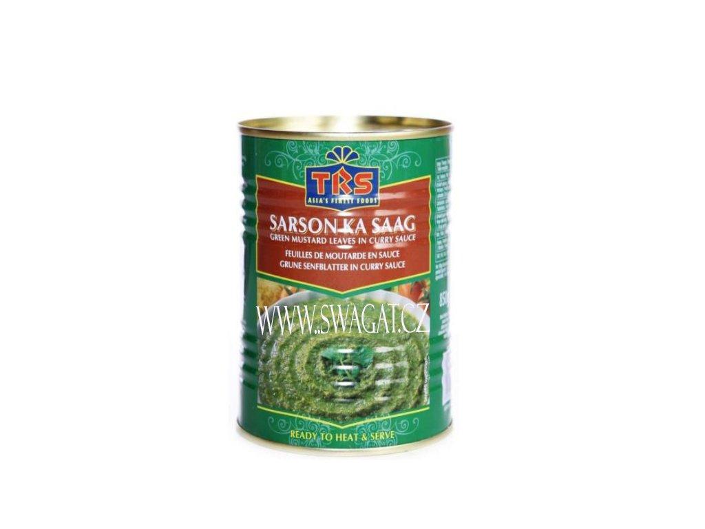 SARSON KA SAAG  - Zelené listy hořčice v kari omáčce (Green Mustard Leaves in Curry Sauce),  TRS 400g