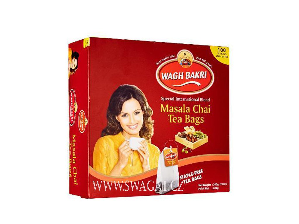 WAGH BAKRI Masala čaj 100 sačků (200g)