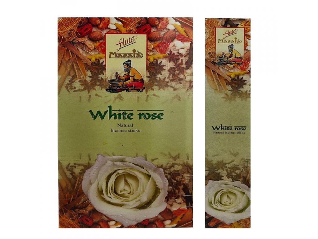 Vonné tyčinky Mmasala/Bilé růže (White Rose Masala Incense Sticks) 15ks