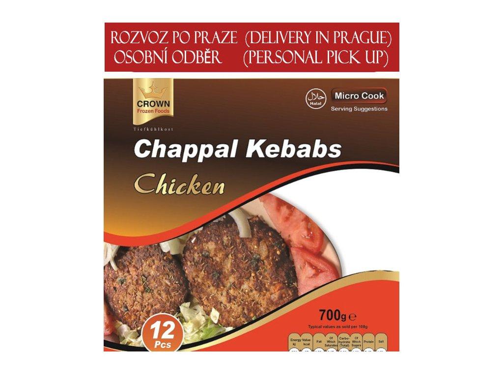 Kuřecí kebab (Chappal Chicken Kebabs), CROWN 700g (12ks)