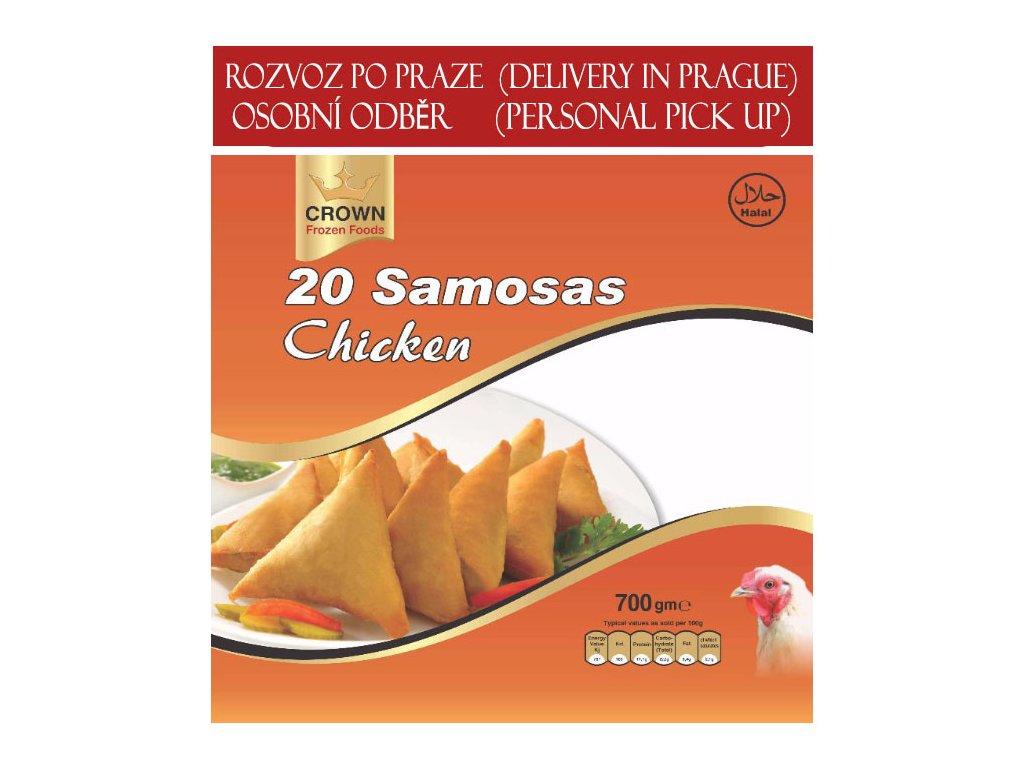Kuřecí samosa (Chicken Samosa), CROWN 700g (20ks)