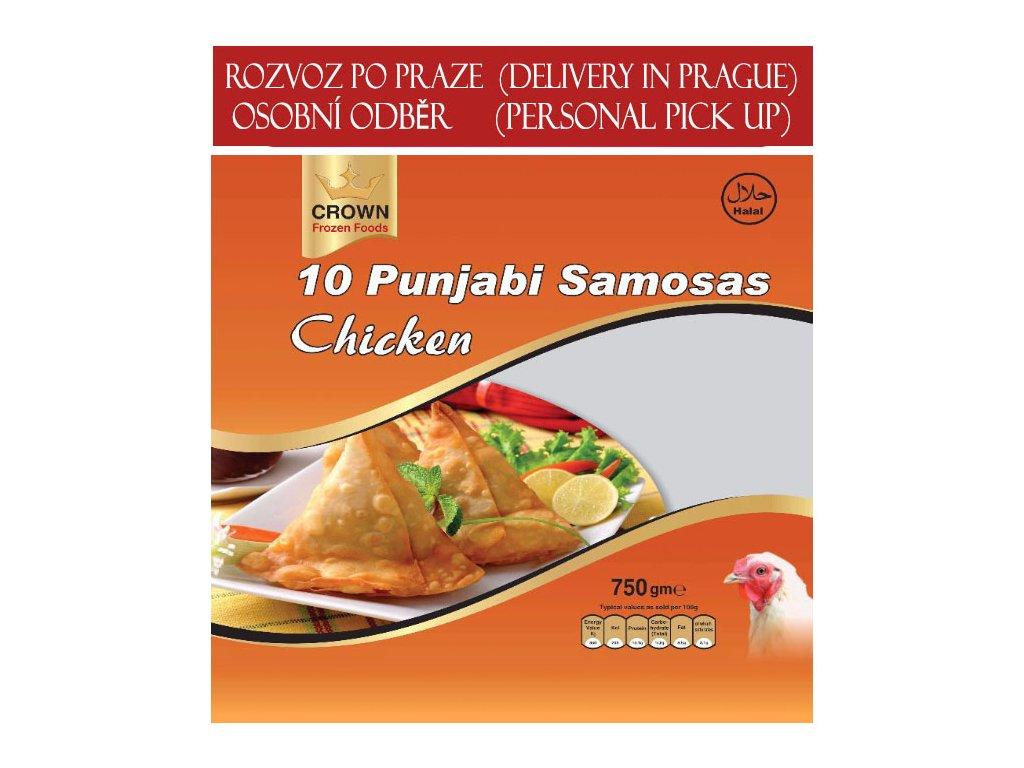 Pandžábská kuřecí samosa (Punjabi Chicken Samosa), CROWN 750g (10ks)