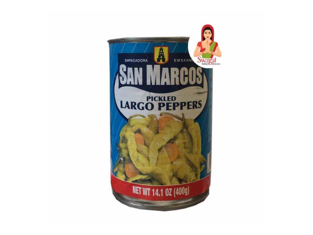San Marcos Nakládané papričky Largo (Pickled Largo Peppers), 400g