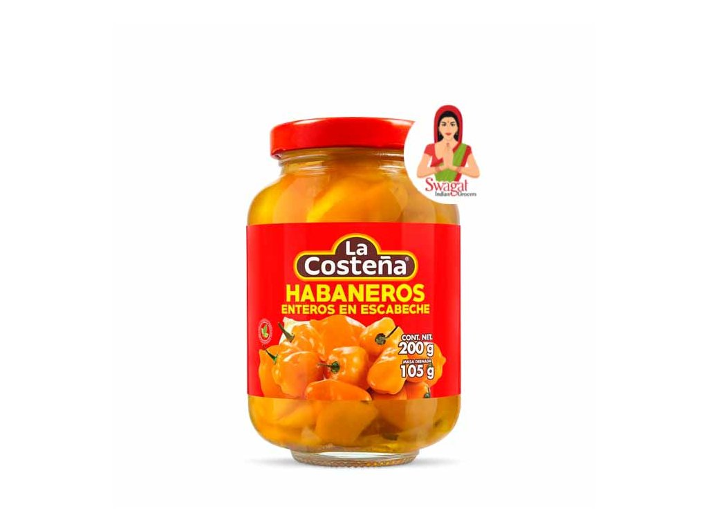 Papričky Habanero celé, La Costeňa 200g
