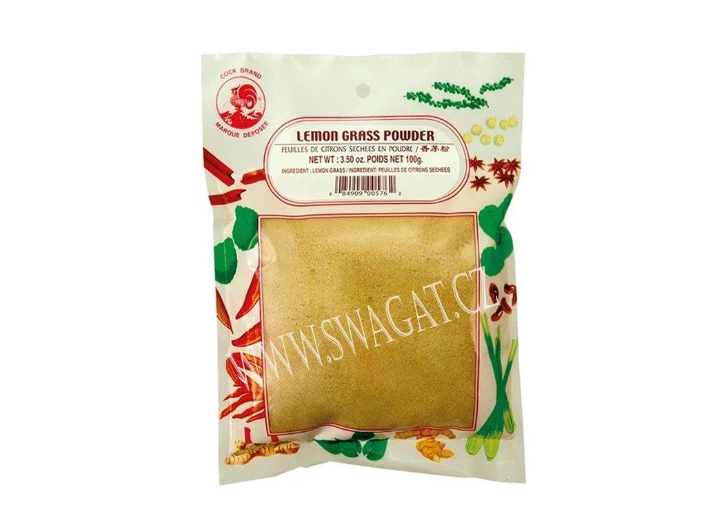 Citrónová trava mletá (Lemon Grass Powder), COCK BRAND 100g