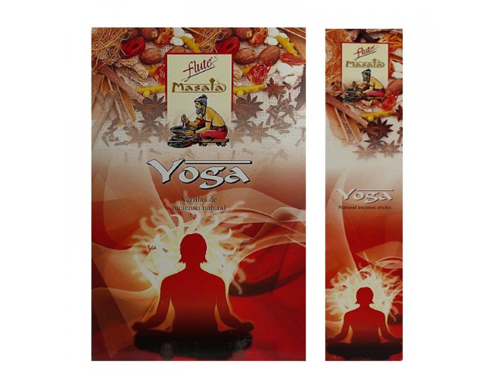 Vonné tyčinky Yoga Masala (Yoga Masala Incense Sticks), 15ks