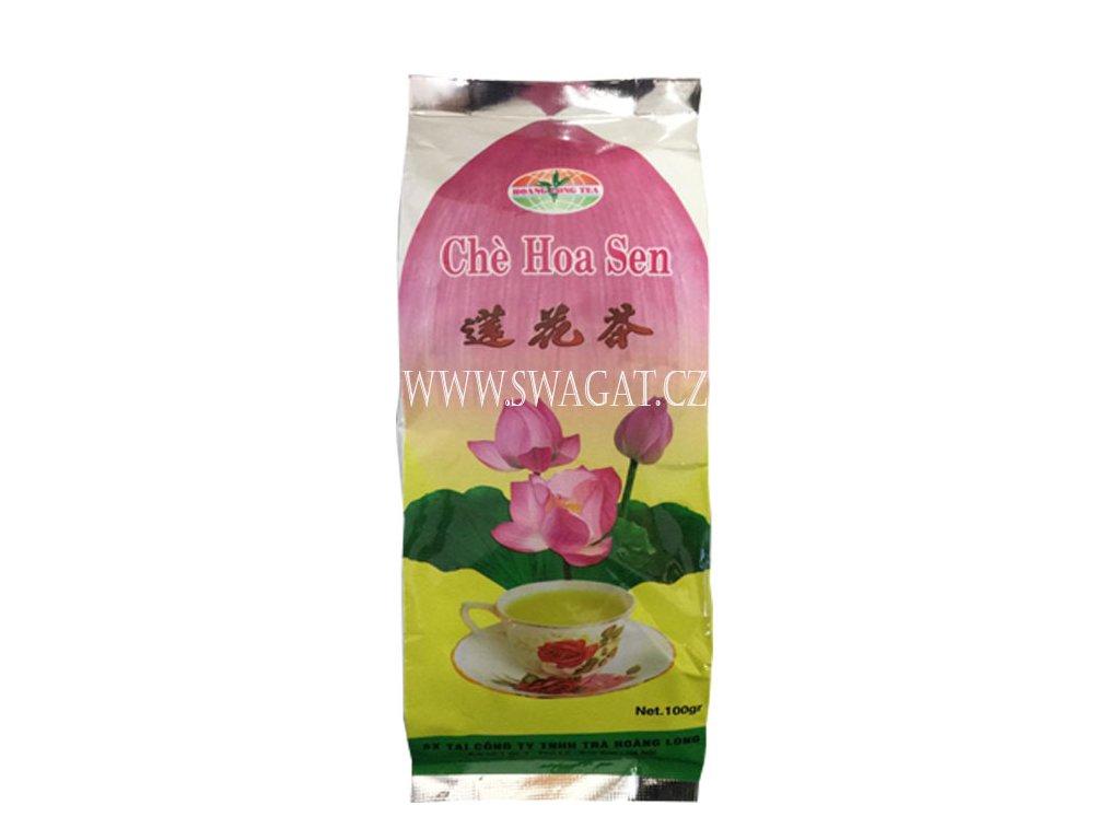 Vietnamský zelený lotosový čaj sypany, 100g