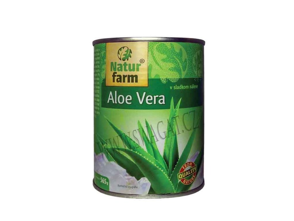 Aloe Vera ve sladkém nálevu (Aloe Vera in Sweet Syrup), NATUR FARM 565g