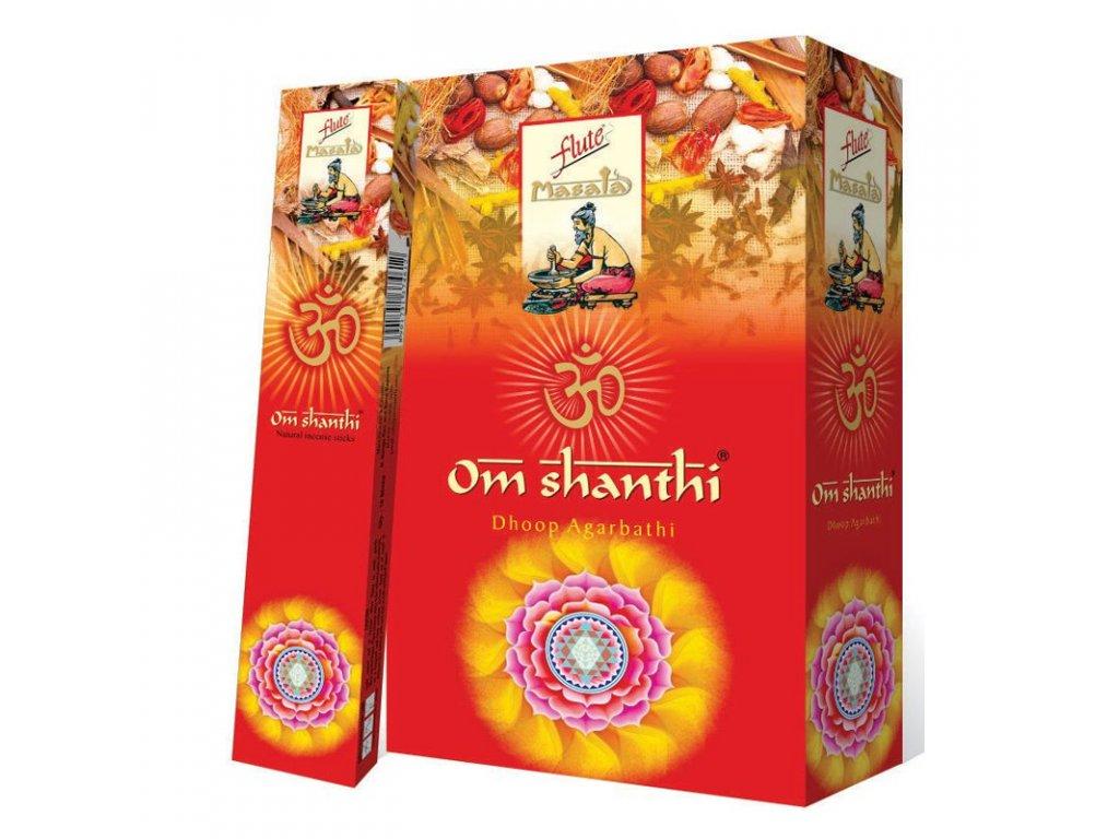 Vonné tyčinky Masala Om Shanti, FLUTE 15ks