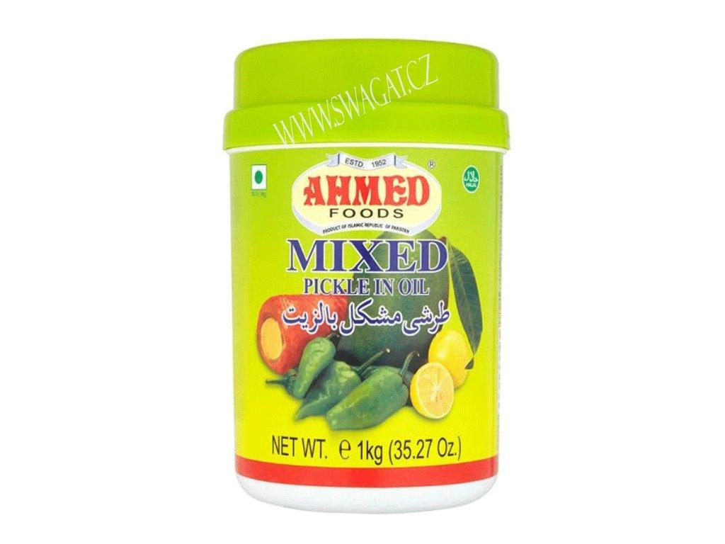 Naložená pikantní zelenina s ovocem v oleji, AHMED FOODS 1kg