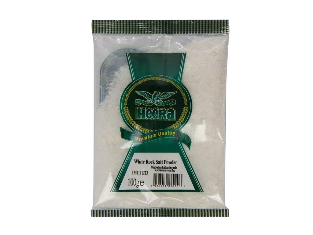 Bílá Himalájská sůl mletá (White Rock Salt), HEERA 100g