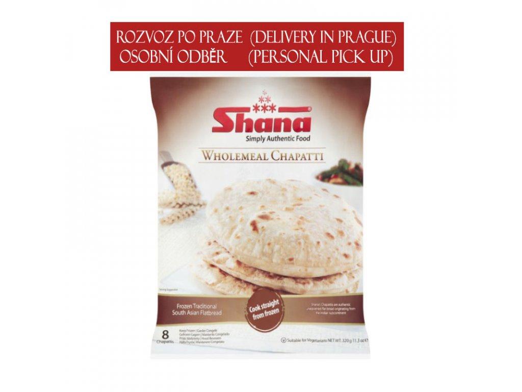 Chapati z celozrnné mouky (Wholemeal), SHANA 320g (8ks)