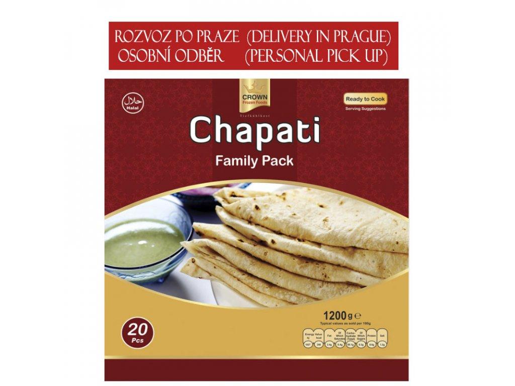 Chapati rodinné balení (Family Pack), CROWN 1200g (20ks)