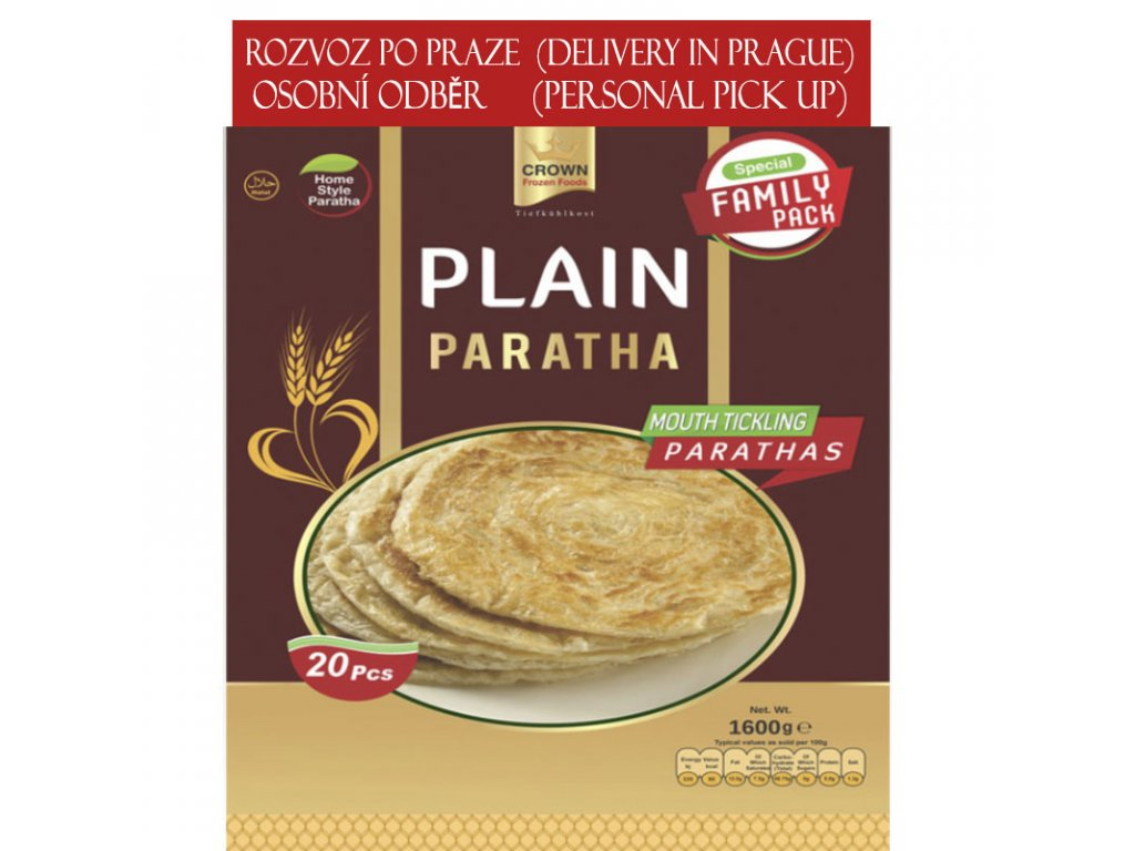 Paratha rodinné balení (Family Pack), CROWN 1600g (20ks), CROWN 1600g (20ks)