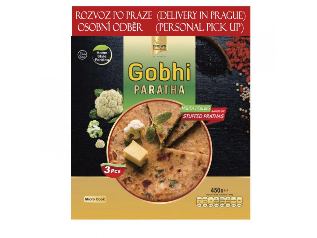 Gobhi Paratha, CROWN 450g (3ks)