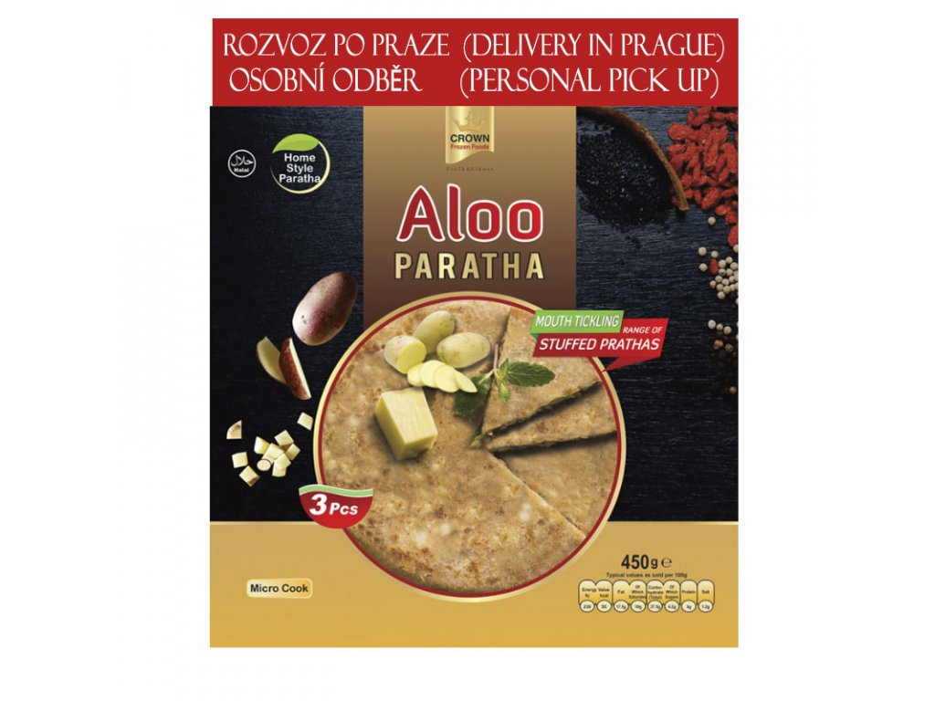 Aloo Paratha, CROWN 450g (3ks)