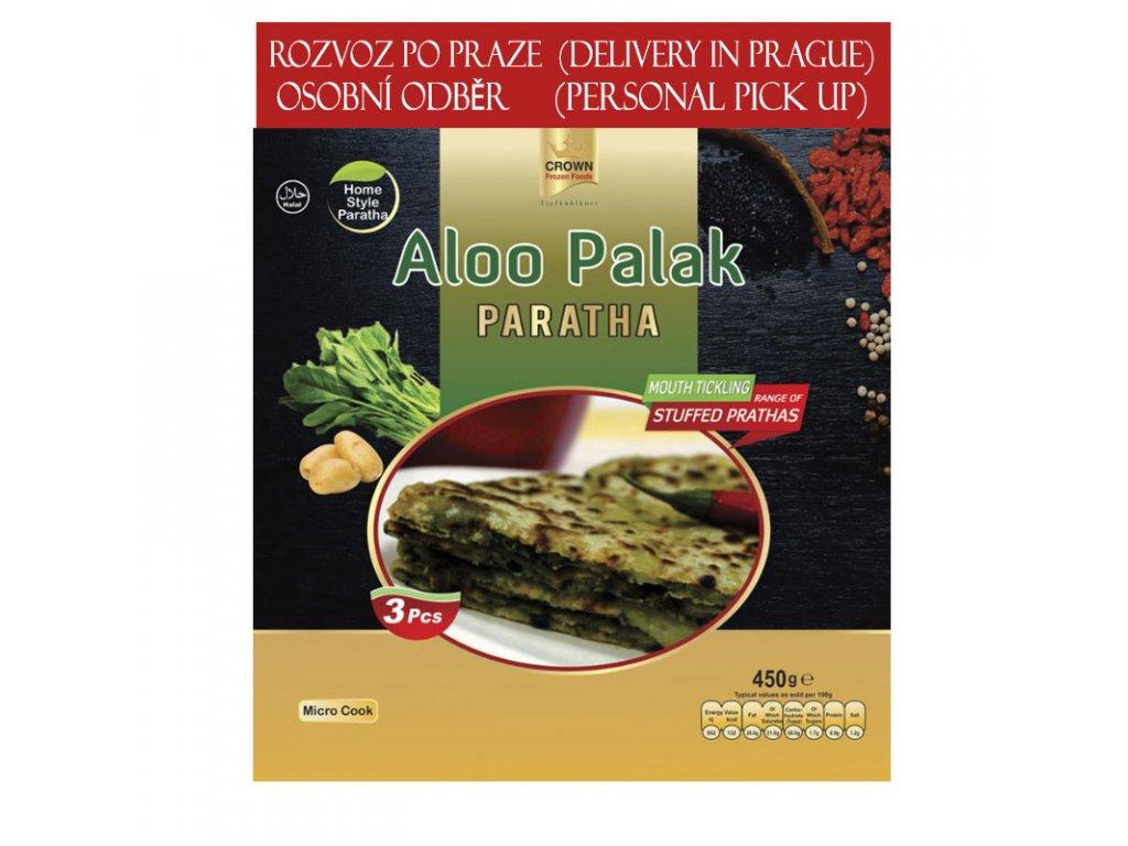 Aloo Palak Paratha, CROWN 450g (3ks)