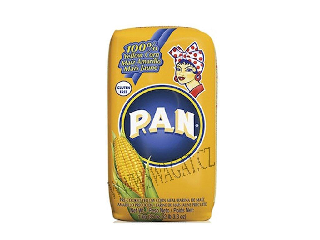 Žlutá mouka z předvařené kukuřice, P.A.N. 1 kg