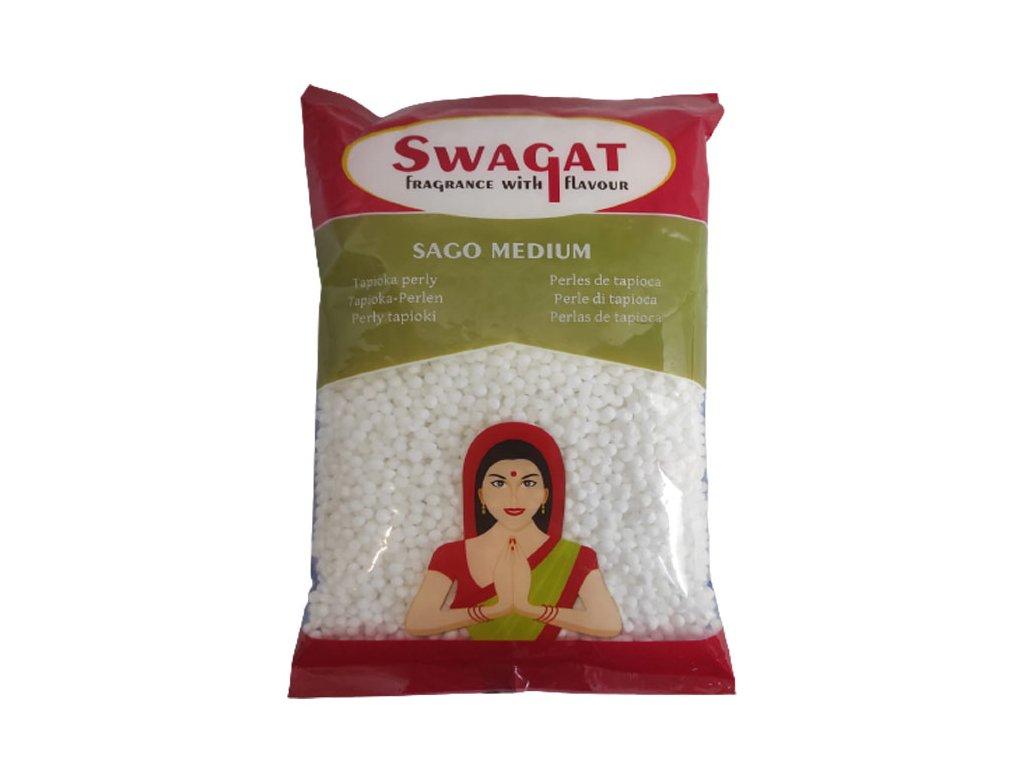 Sago (Tapioka) perly Medium, SWAGAT 500g