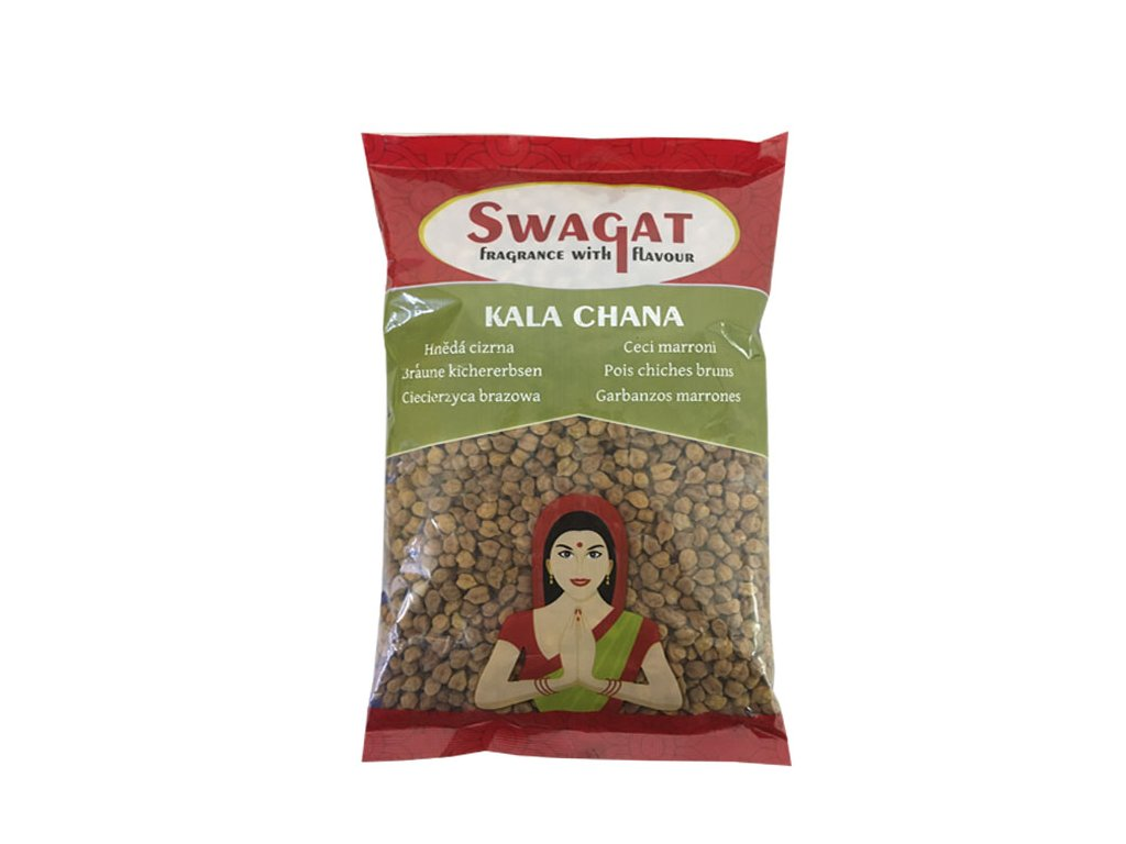 Kala Chana - hnědá cizrna, SWAGAT 500g