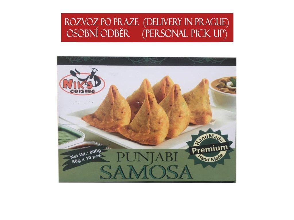 Pandžábská zeleninová samosa (Punjabi Veg. Samosa Jumbo), NIK´S CUISINE 800g (10ks)