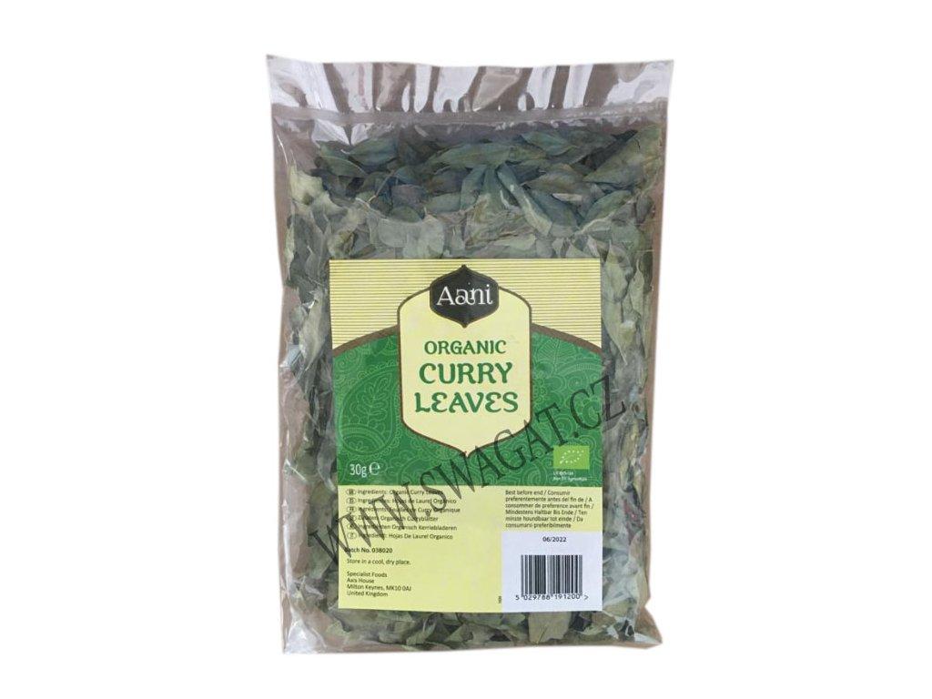 BIO Kari listy(Organic Curry Leaves), AANI 30g