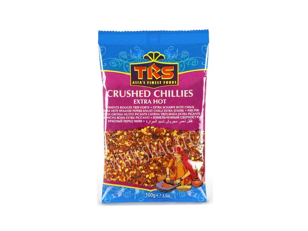 Extra pálivé drcené chilli (Extra Hot Crushed Chillies), TRS 100g