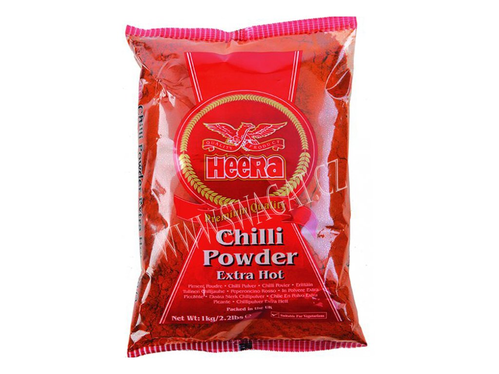 Extra pálivé chilli mleté (Extra Hot Chilli Powder), HEERA 1Kg