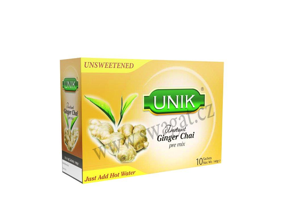 Instantní zázvorový čaj (Instant Ginger Chai), UNIK 140g / 10 sačků