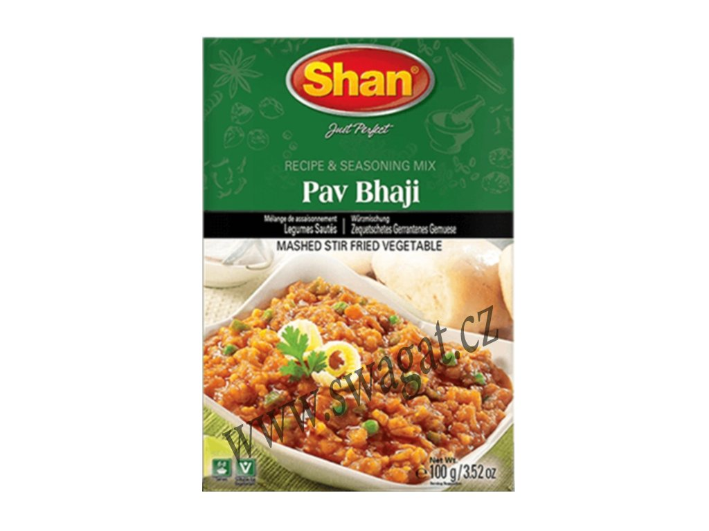 Pav Bhaji - koření na vegetariánské kari, SHAN 100g