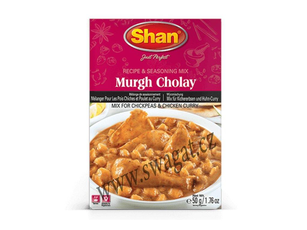 Murgh Cholay - koření na kuřecí maso a cizrnu, SHAN 50g