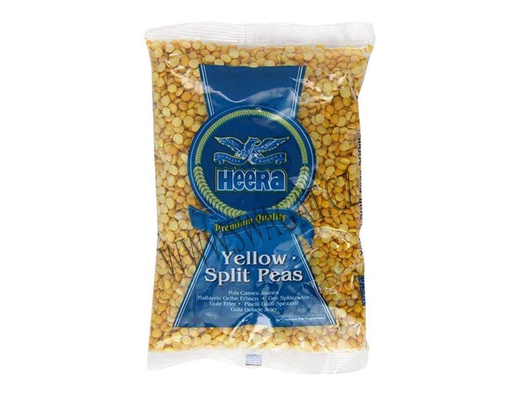 Žlutý hrášek půlený (Yellow Split Peas), HEERA 2Kg