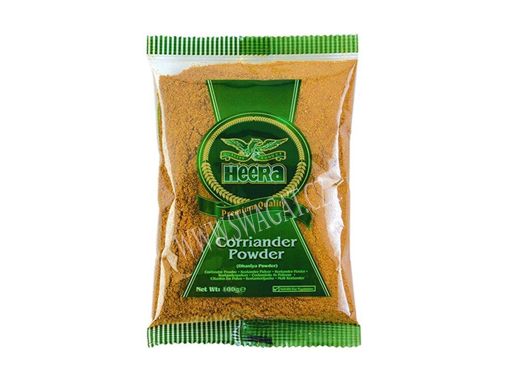 Dhania - koriandr mletý (Coriander Powder), HEERA 400g