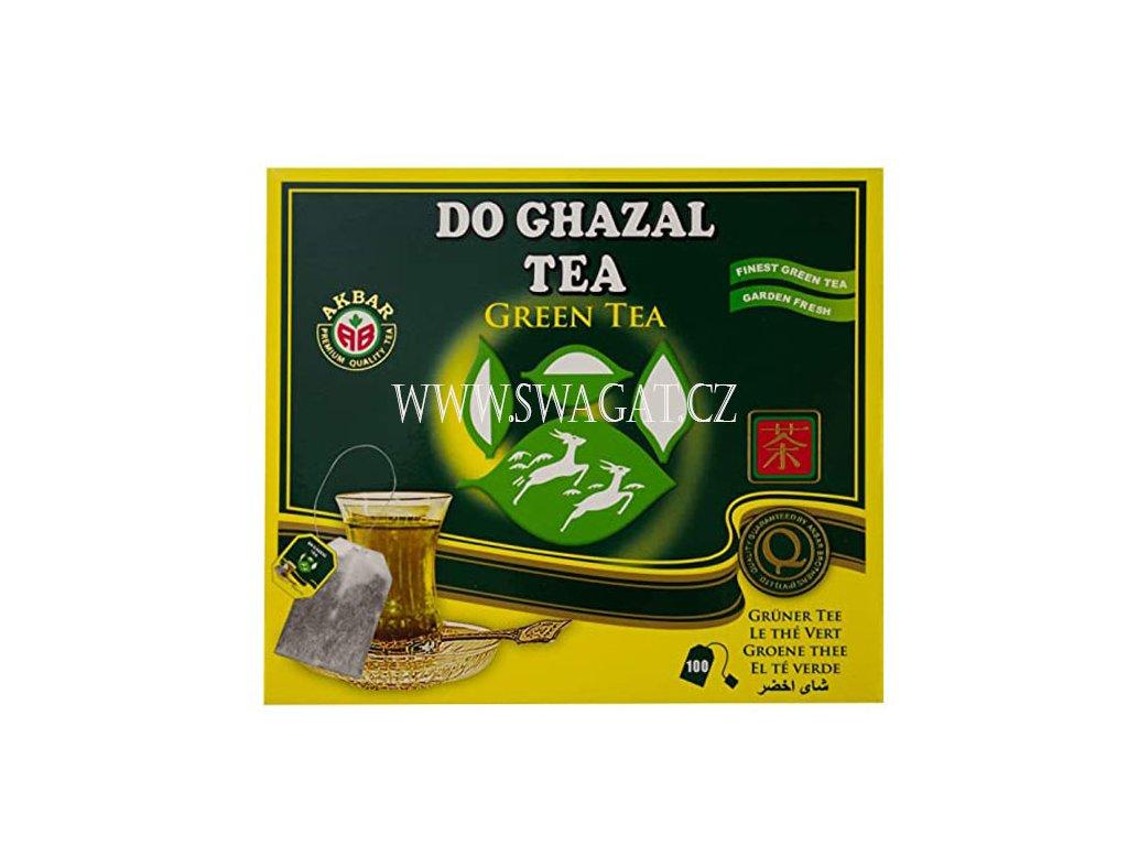 Čínský zelený čaj (Pure Chinese Green Tea), DO GHAZAL 100 sačků