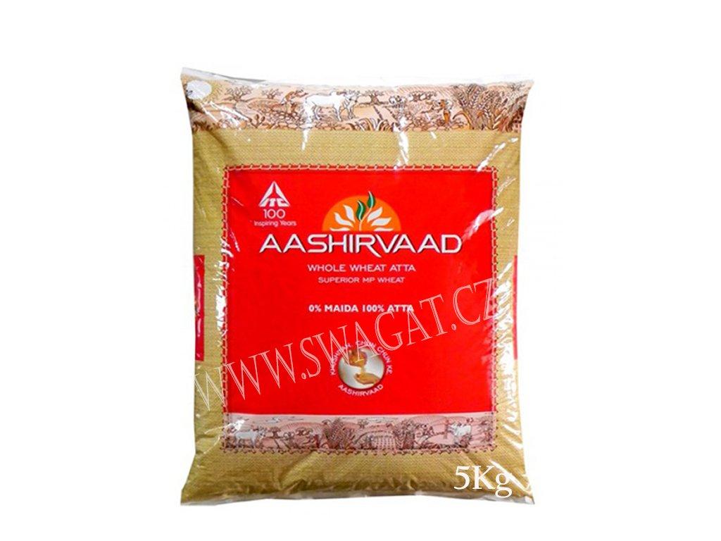 Atta-Celozrnná pšeničná mouka (Whole Wheat Flour), AASHIRVAAD 5kg