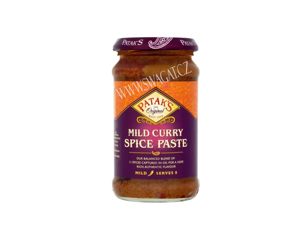 Kari pasta jemná (Mild Curry Paste), PATAK`S 283g