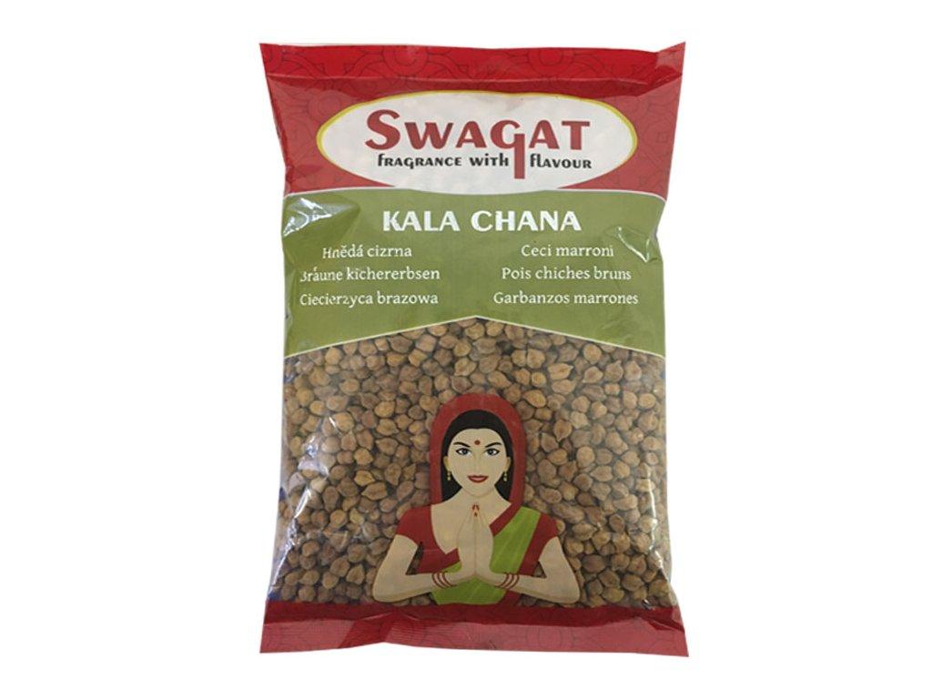 Kala Chana - hnědá cizrna, SWAGAT 2Kg