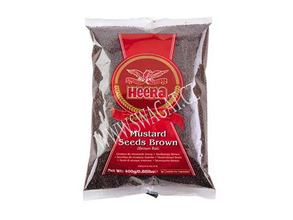 Hořčičné semínko hnědé (Mustard Seeds Brown), HEERA 400g