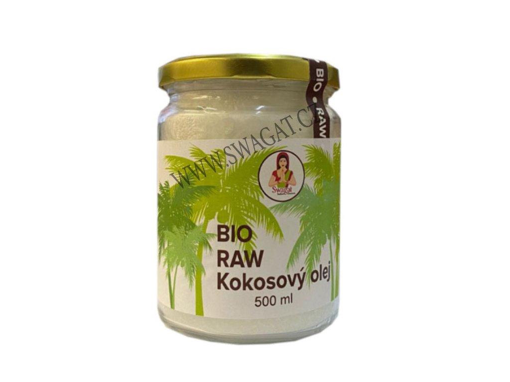 BIO Raw Kokosový olej (Pure Coconut Oil), SWAGAT 500ml
